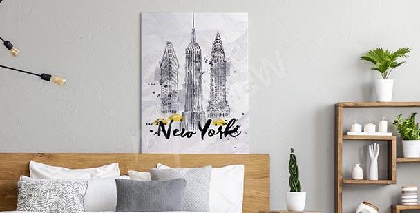 Typographic New York canvas print