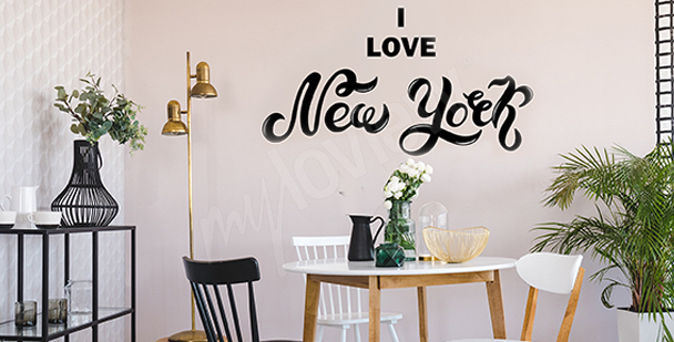 Typographic New York sticker