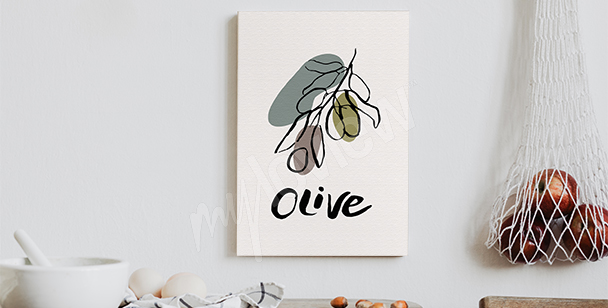Typographic olive canvas print