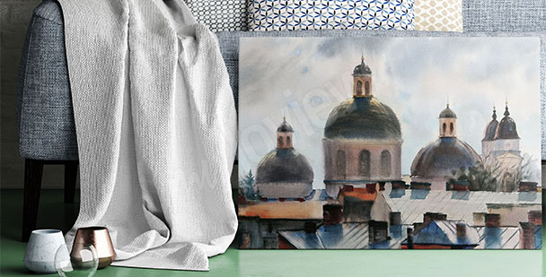 Ukrainian architecture canvas print