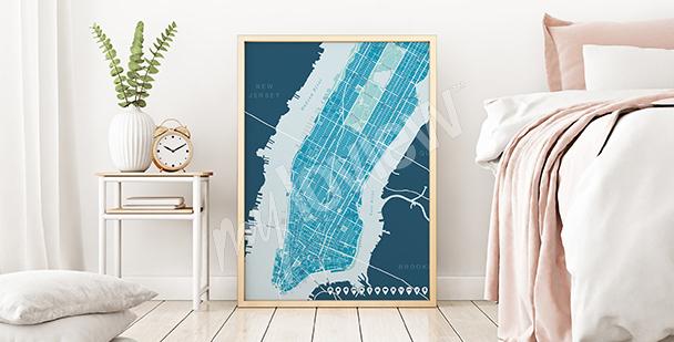 Upper Manhattan map poster
