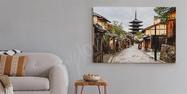Urban alley in Tokyo canvas print