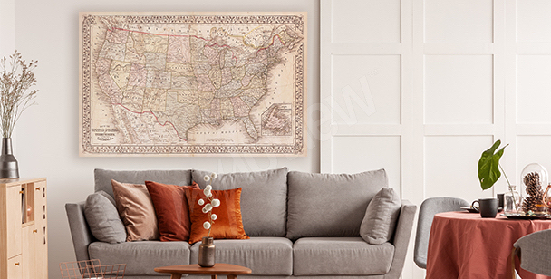 USA motif canvas print