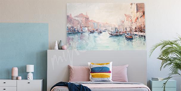 Venetian landscape canvas print