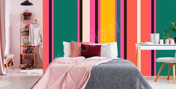 Vibrant stripes mural