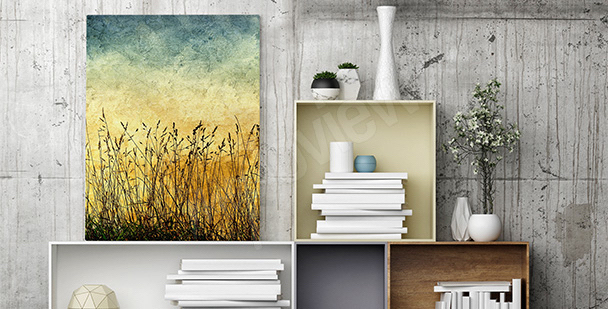 Vintage field canvas print