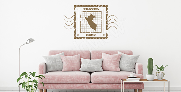 Vintage map sticker: Peru