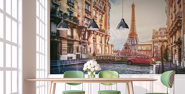 Paris panorama wall mural
