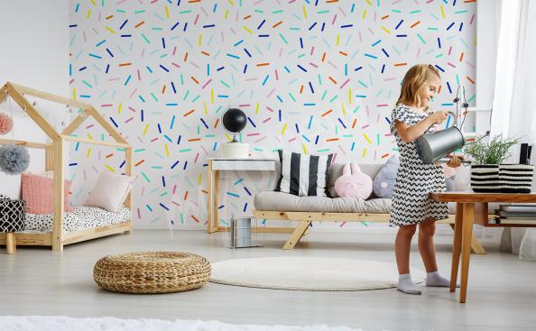 Wall mural colorful pattern for a child's room