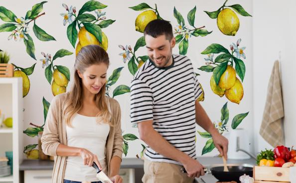 Wall mural Fruits with a lemon motif
