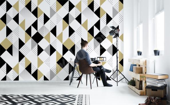 Wall mural in a geometric pattern