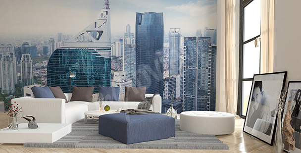 Wall mural living room metropolis