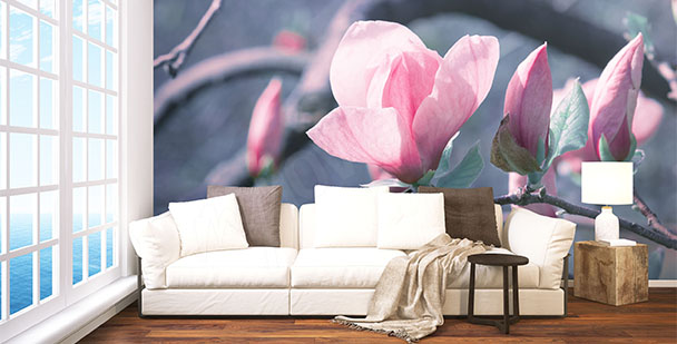 Wall mural magnolia branch
