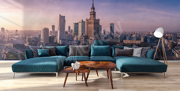 Wall mural panorama of Warsaw
