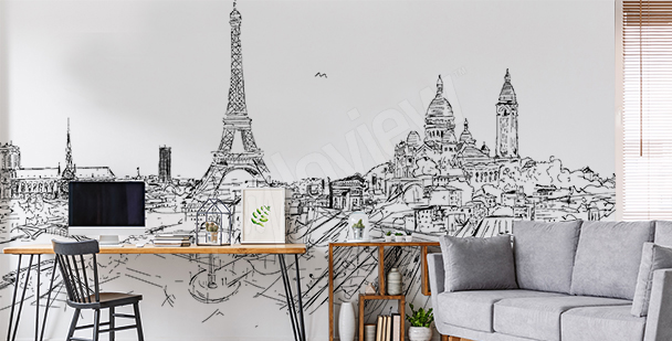 Montmartre Paris wall mural