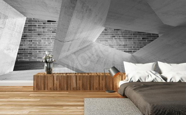 Wall mural spatial architecture