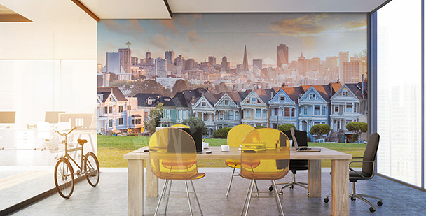 Wall mural view of San Francisco