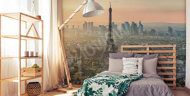 Wall mural view of the Eiffel Tower