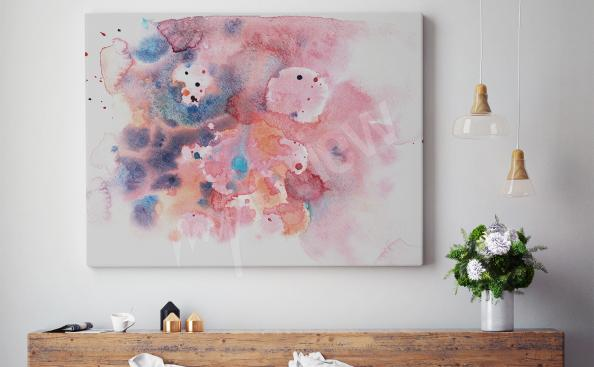 Watercolor abstract canvas print