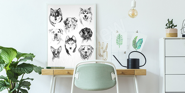 Watercolor animals poster