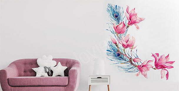 Watercolor painted sticker