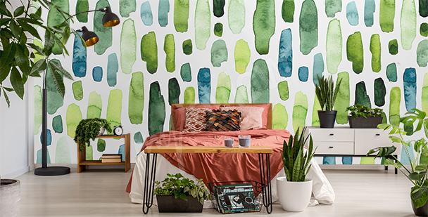 Watercolor spots mural