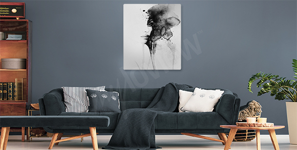 Watercolor woman canvas print