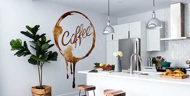 Watercolour coffee sticker