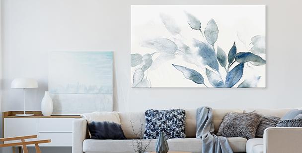 Watercolour floral style canvas print