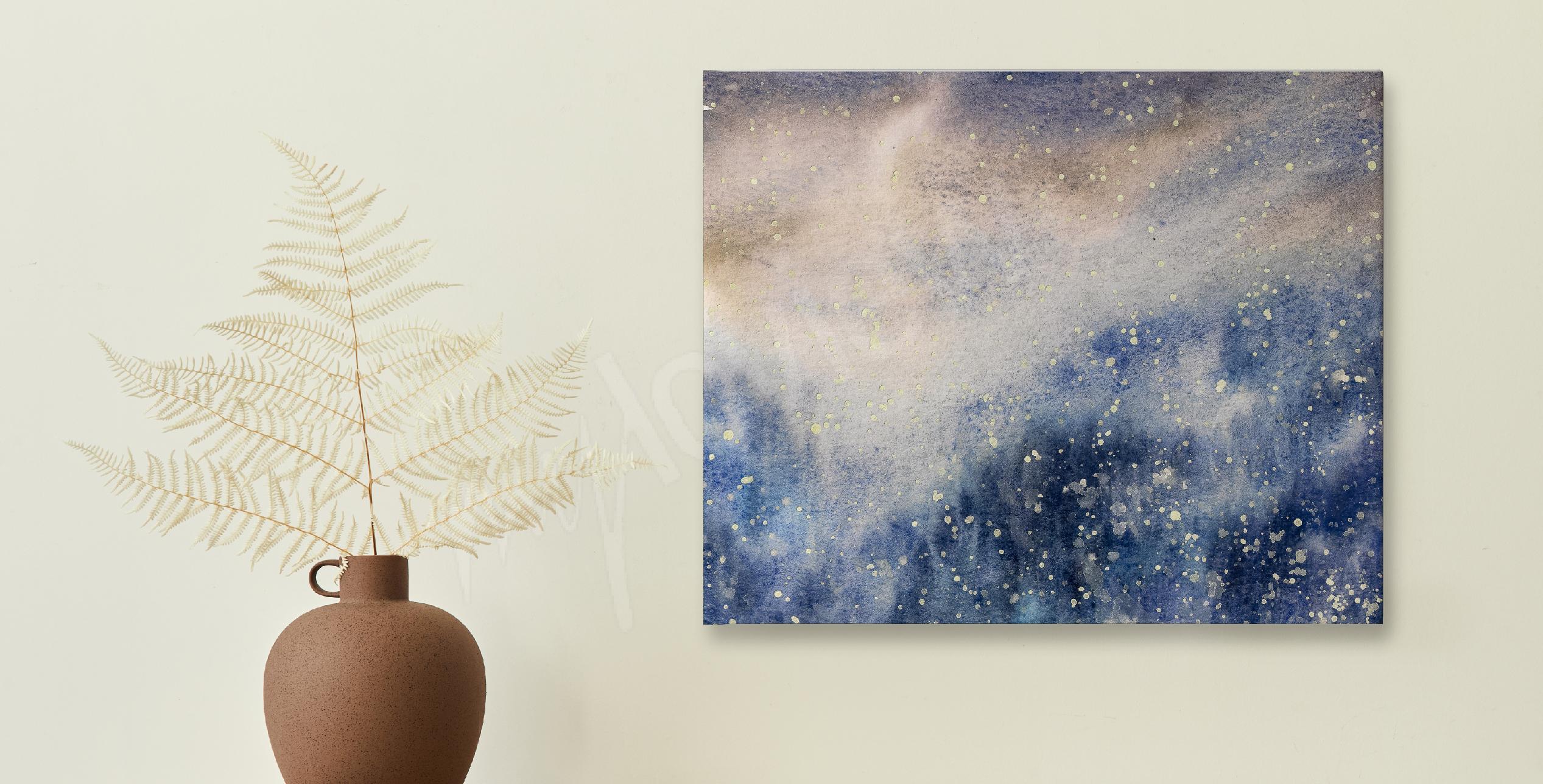 Watercolour snowy texture canvas print