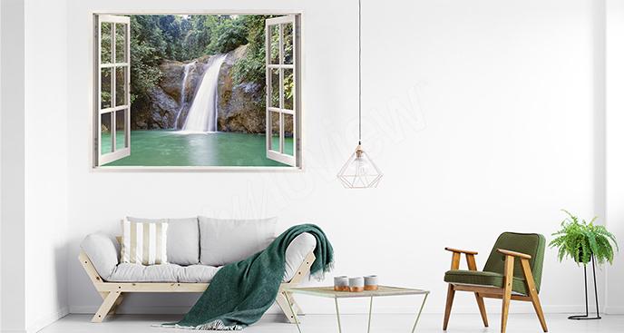 Waterfall view sticker