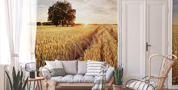 Wheat field mural