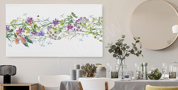 Lavender flower canvas print