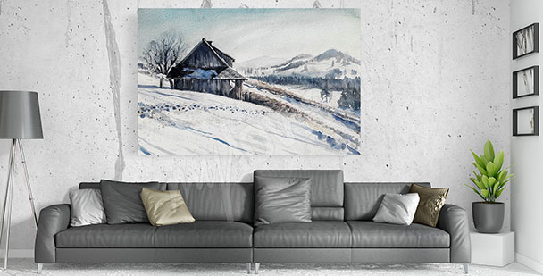 Winter canvas print for living room