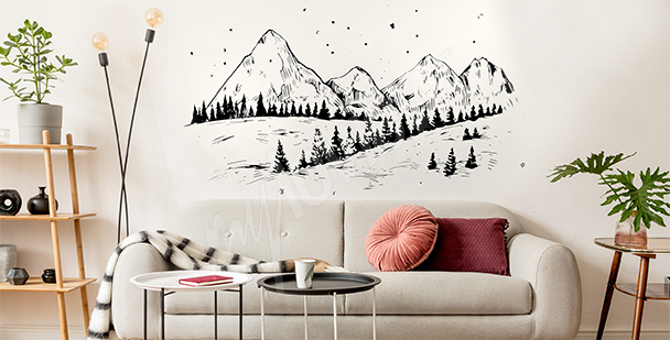 Winter mountains sticker