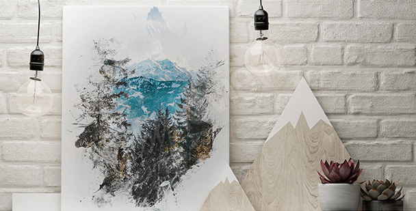 Winter nature canvas print