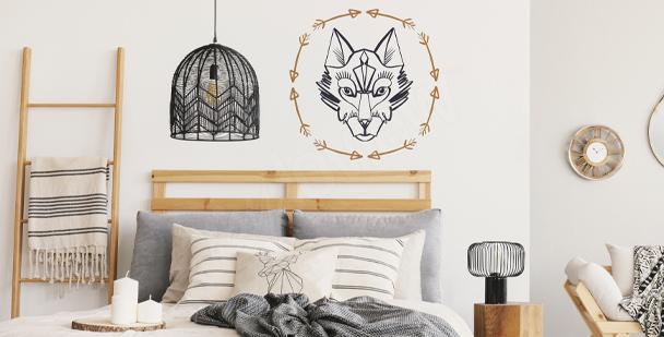 Wolf image sticker