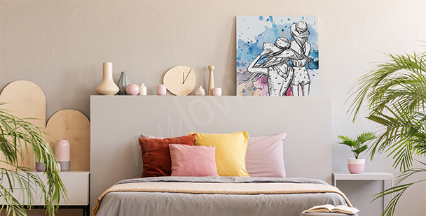 Butterflies canvas print for bedroom