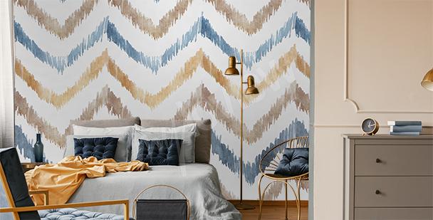 Zigzag stripes mural