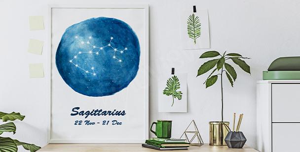 Zodiac sign poster